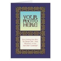 Celtic Knot Border Photo Frame Greeting Card