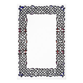 Celtic Knot Border Custom Stationery