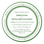 Celtic Knot Circle and Irish Wedding Blessing Invitation