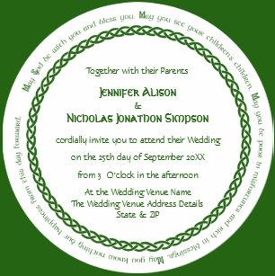 Celtic Wedding Invitations Zazzle