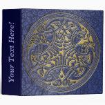 Celtic Knot Circle of Blue Birds & Gold-Binder