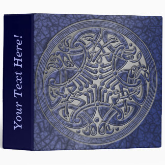Celtic Knot Circle of Blue Birds & Silver-Binder 3 Ring Binder