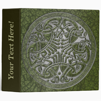 Celtic Knot Circle of Green Birds & Silver-Binder Binder