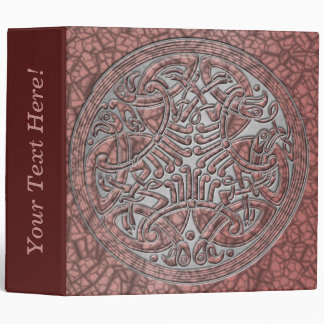 Celtic Knot Circle of Pink Birds & Silver-Binder Binder