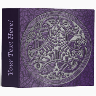 Celtic Knot Circle of Purple Birds & Silver-Binder 3 Ring Binder