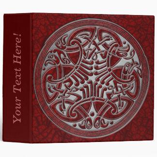 Celtic Knot Circle of Red Birds & Silver-Binder Binder