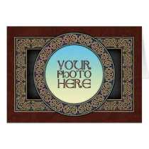 Celtic Knot Circle Photo Frame Greeting Card