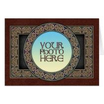 Celtic Knot Circle Photo Frame Greeting Card
