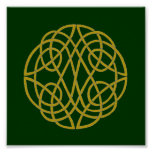 Celtic Knot Circle Poster