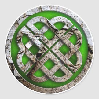 celtic knot classic round sticker