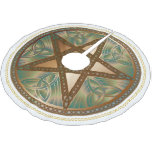 Celtic Knot Copper Pentagram Yuletide Tree Shirt Brushed Polyester Tree Skirt