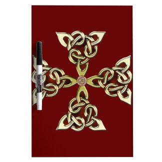 Celtic Knot Cross 2 Dry Erase Board