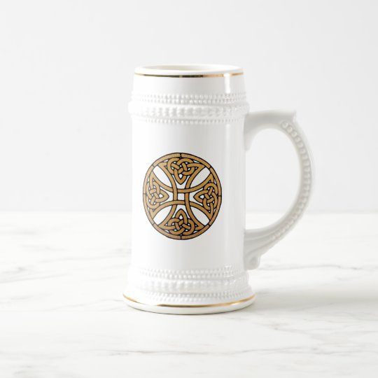 Celtic Knot Cross Beer Stein