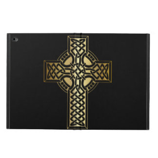 Celtic Knot Cross in Gold and Black Powis iPad Air 2 Case