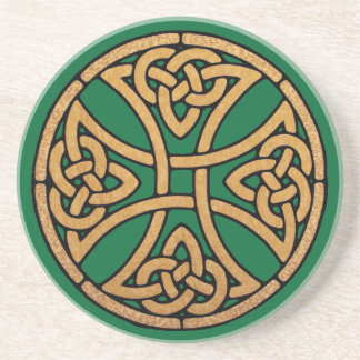 Celtic Knot Cross Sandstone Coaster
