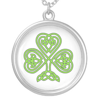 Celtic Knot Cross Tree Round Pendant Necklace