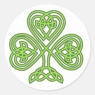 Celtic Knot Cross Tree Round Stickers
