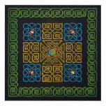Celtic Knot (Cross) with eyes Panel Wall Art