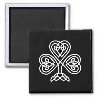 Celtic Knot Design Shamrock 2 Inch Square Magnet