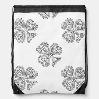 Celtic Knot Design Shamrock Drawstring Backpack