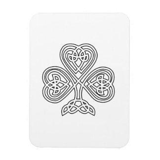 Celtic Knot Design Shamrock Rectangular Photo Magnet