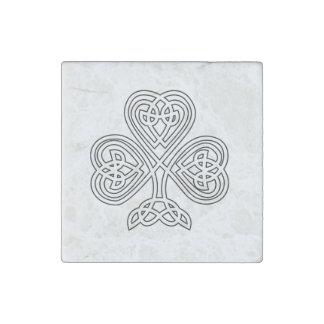 Celtic Knot Design Shamrock Stone Magnet