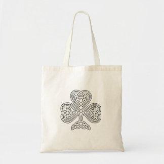 Celtic Knot Design Shamrock Tote Bag