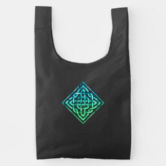Celtic Knot - Diamond Blue Green Reusable Bag