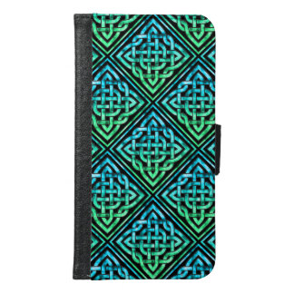 Celtic Knot - Diamond Blue Green Samsung Galaxy S6 Wallet Case