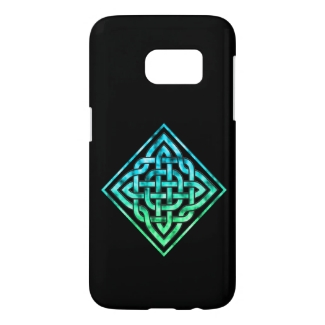 Celtic Knot - Diamond Blue Green Samsung S7 Case