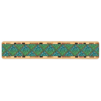 Celtic Knot - Diamond Blue Green - Wooden Key Holder