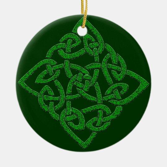 Celtic Knot - Diamond Ceramic Ornament
