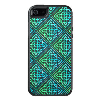 Celtic Knot - Diamond Tile Blue Green OtterBox iPhone 5/5s/SE Case