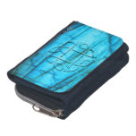 Celtic knot digitally carved in labradorite gem wallet