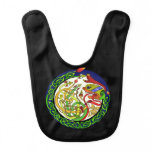 Celtic Knot Dragon Mandala Baby Bib