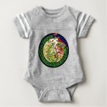 Celtic Knot Dragon Mandala Baby Bodysuit