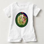 Celtic Knot Dragon Mandala Baby Romper