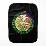 Celtic Knot Dragon Mandala Burp Cloth