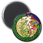 Celtic Knot Dragon Mandala Magnet