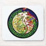 Celtic Knot Dragon Mandala Mouse Pad