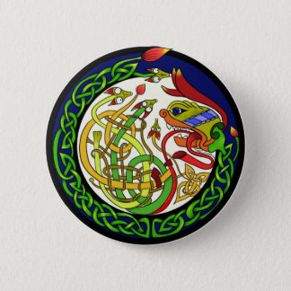 Celtic Knot Dragon Mandala Pinback Button
