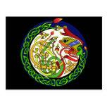 Celtic Knot Dragon Mandala Postcard