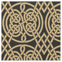 "Celtic Knot ""Durrow"" Pattern Fabric"