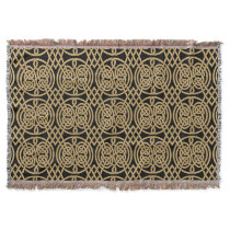 """Celtic Knot """"Durrow"""" Pattern Throw Blanket"""