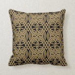 """Celtic Knot """"Durrow"""" Pattern Throw Pillow"""