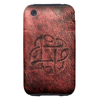 Celtic knot embossed on leather tough iPhone 3 covers