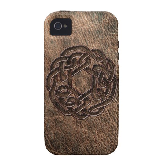 Celtic knot embossed on leather iPhone 4/4S cover