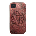 Celtic knot embossed on leather iPhone 4/4S covers