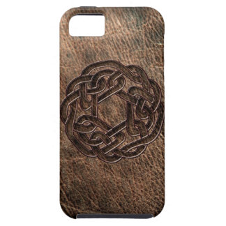 Celtic knot embossed on leather iPhone SE/5/5s case