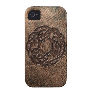 Celtic knot embossed on leather vibe iPhone 4 case